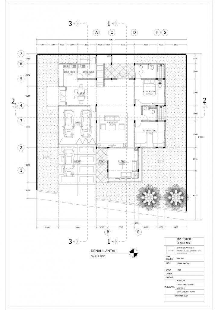 Desain dan Gambar Rumah Mewah 2 Lantai Di Yogjakarta