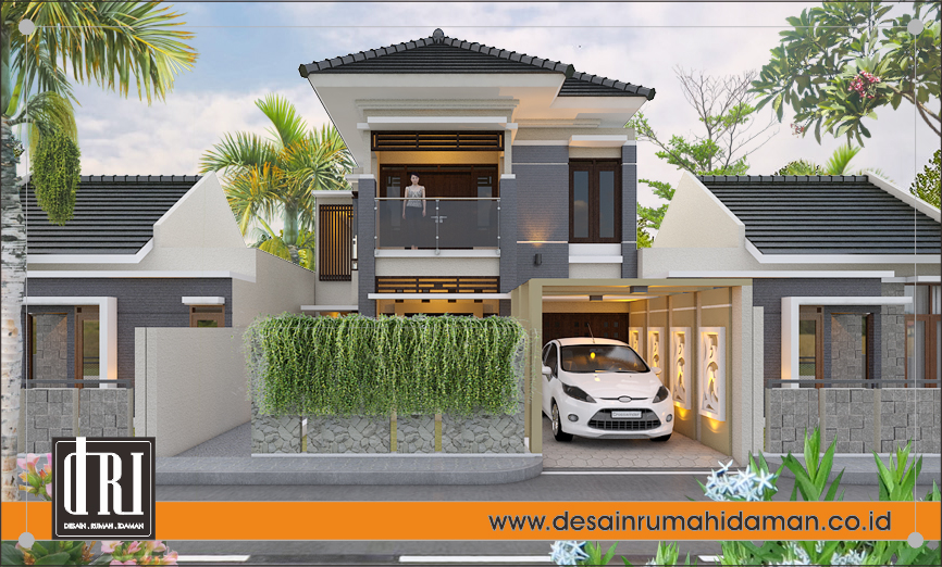 fasad rumah modern tropis