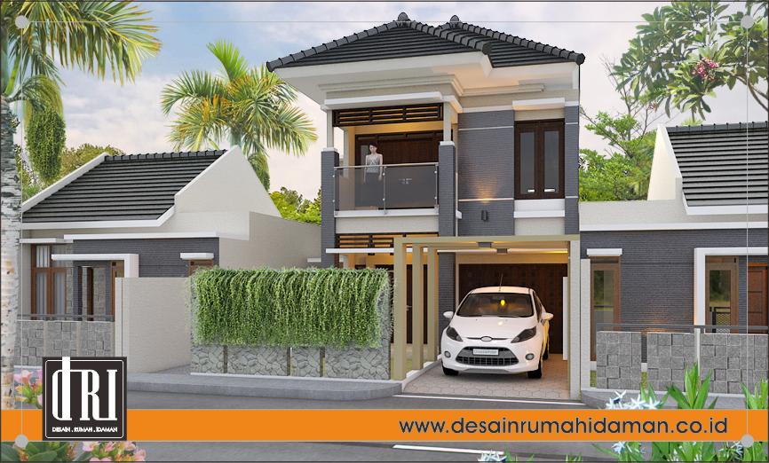 perspektif 1 desain rumah modern tropis