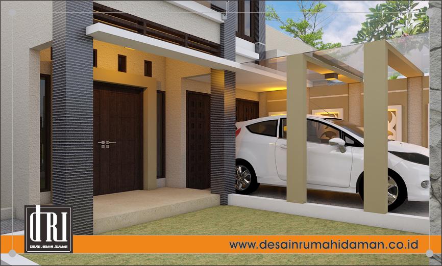 desain teras rumah modern tropis