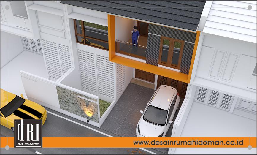tampak perspektif 2 depan rumah modern minimalis