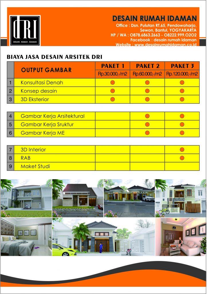 PAKET HARGA DESAIN - Desain Rumah Idaman