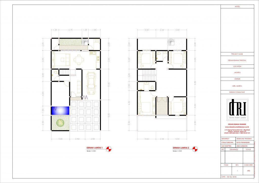 denah rumah minimalis modern include furniture