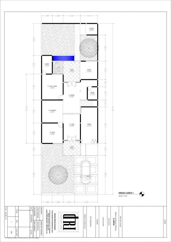 denah lantai 1 untuk usulan renovasi bergaya bali