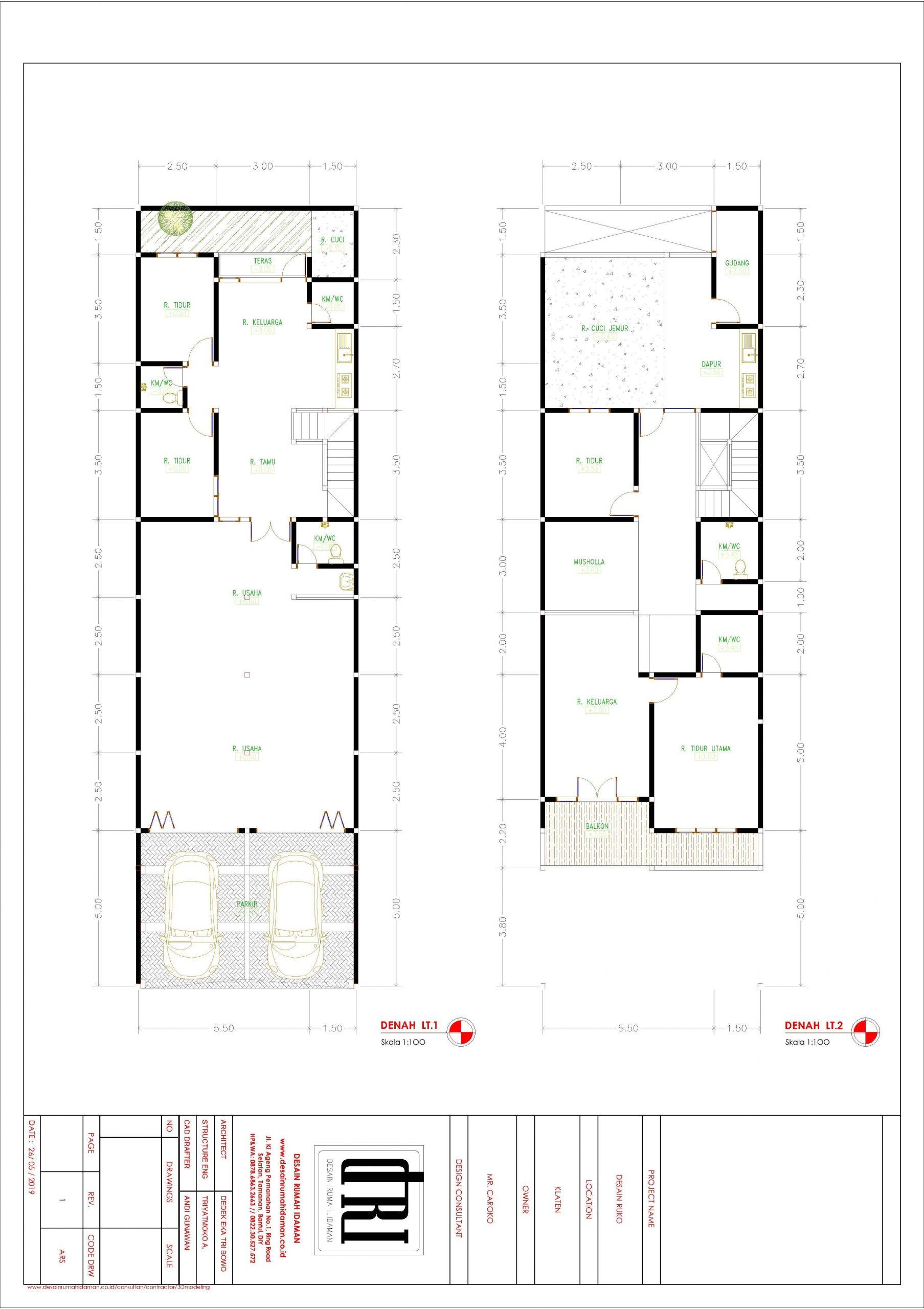 desain ruko 2 lantai