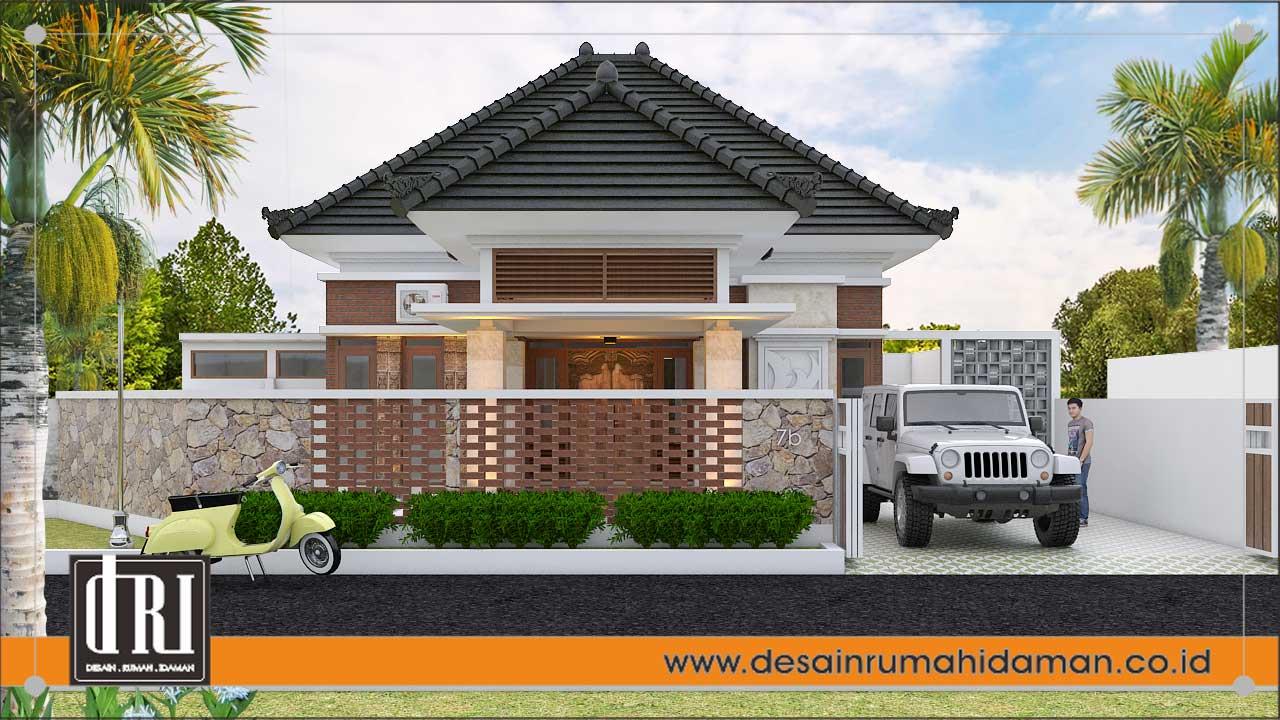 desain rumah etnik modern