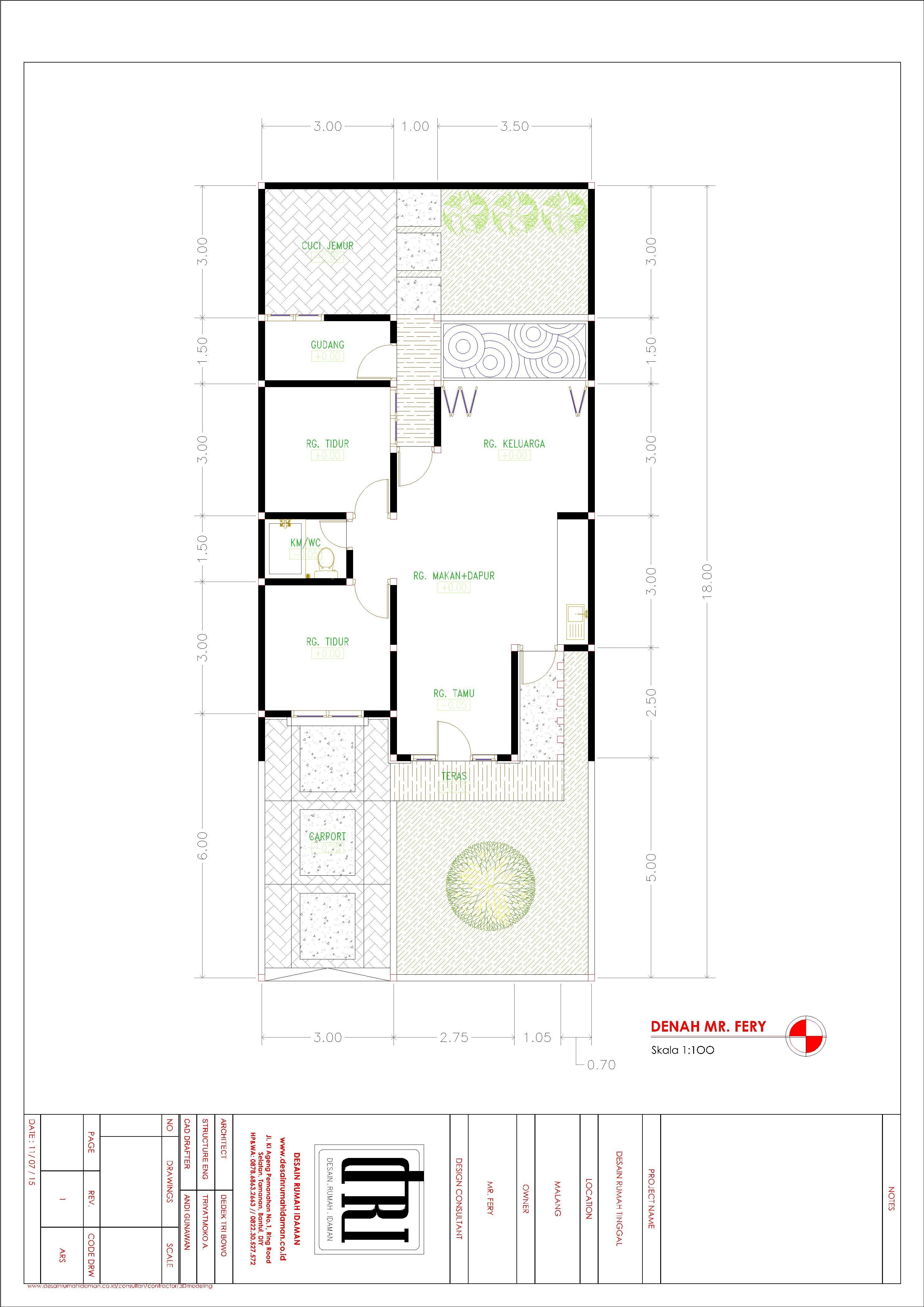 Rumah Modern Minimalis Type 60 di Malang Desain Rumah Idaman