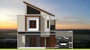 2. tampak depan unit kavling rumah di Semarang