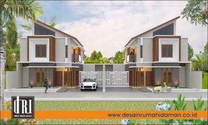 2. Tampak depan unit perumahan, Semarang