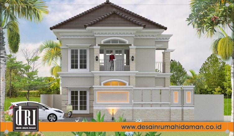 Desain Dan Denah Rumah Hook Klasik 2 Lantai Di Bantul Yogjakarta Desain Rumah Idaman