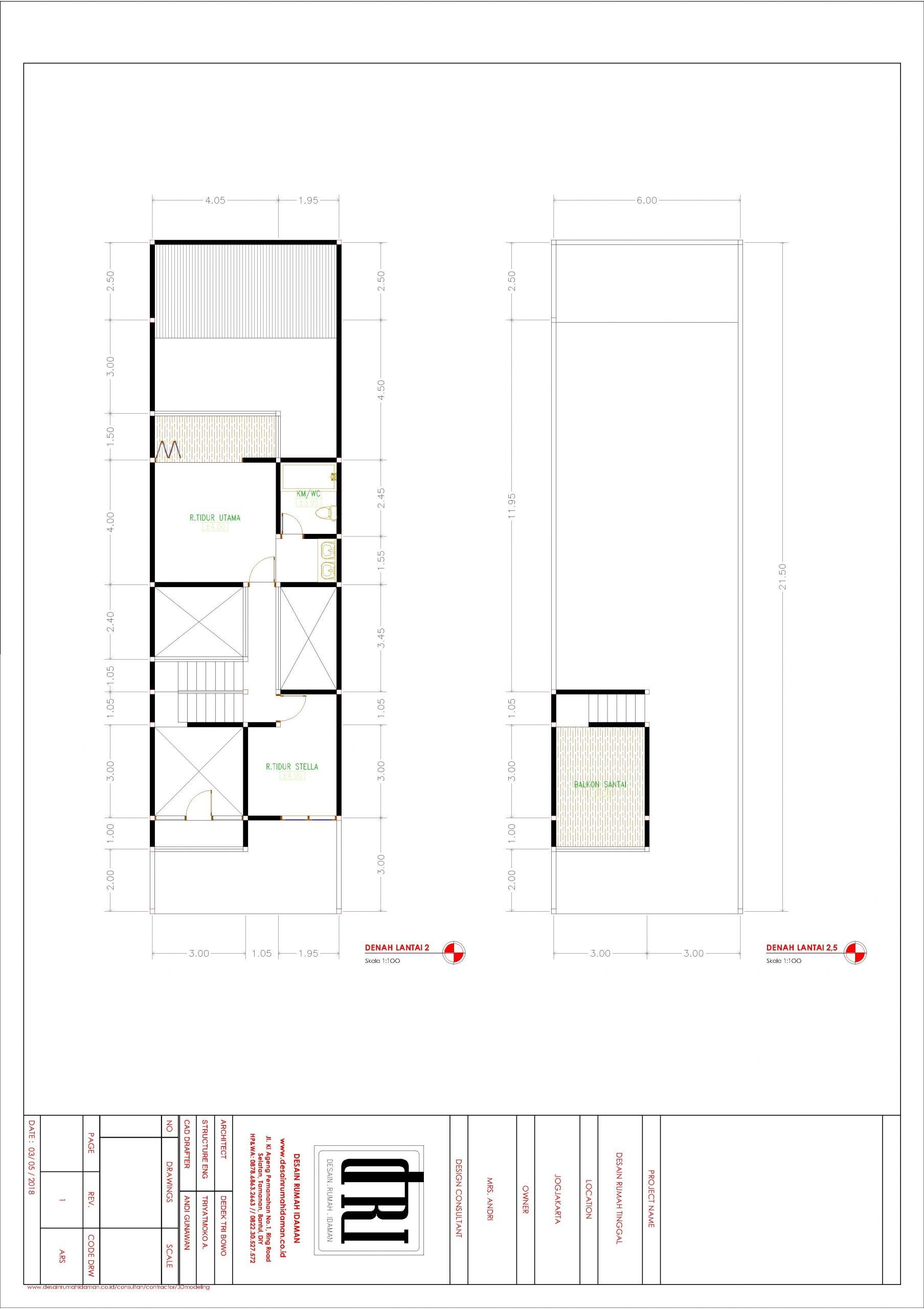 Denah lantai 2 dan 25 Desain Rumah Idaman