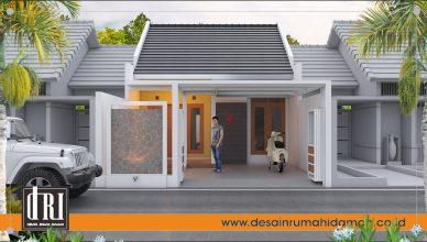 desain rumah memanjang